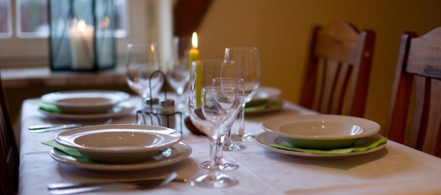 Farmküche Tischdeko