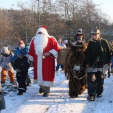 Futtertour mit dem Nikolaus